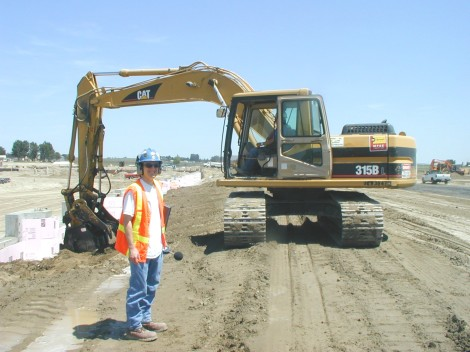 Rick with an excavator - construction site preparation